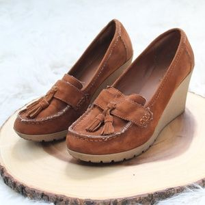 Bohemian Suede Wedge Moccasin